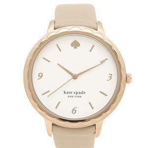 kate spade Morningside Watch Grey Leather Watch 🌸